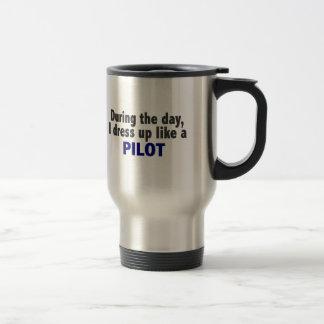 日中私はパイロットのように服を着ます トラベルマグ