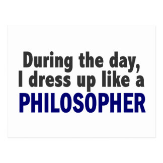 日中私は哲学者のように服を着ます ポストカード