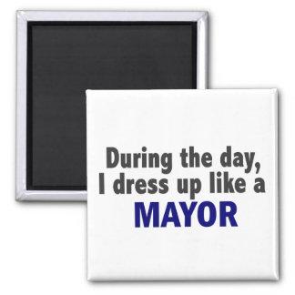 日中私は市長のように服を着ます マグネット