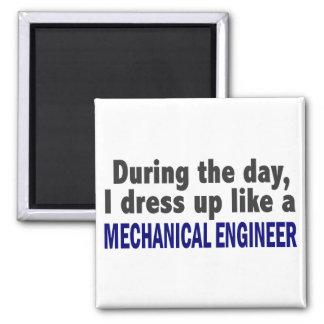 日中私は機械工学者のように服を着ます マグネット