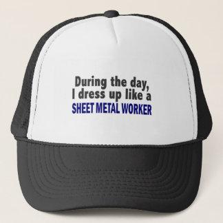 日中私は薄板金の労働者のように服を着ます キャップ