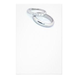 日付か銀製の結婚指輪を救って下さい 便箋