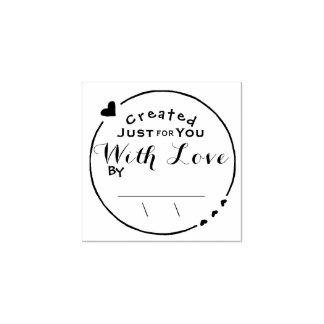 日付が付いている愛アートワークの署名と作成される ラバースタンプ