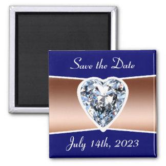 日付のダイヤモンドの正方形の磁石を救って下さい マグネット