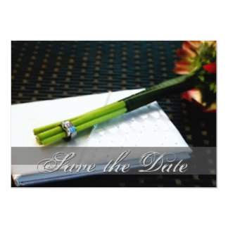 日付のノスタルジックな花の招待を救って下さい カード