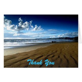 日付のビーチを感謝していしていますメッセージカード救って下さい カード