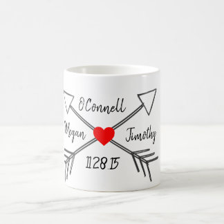 日付のマグのカップル コーヒーマグカップ