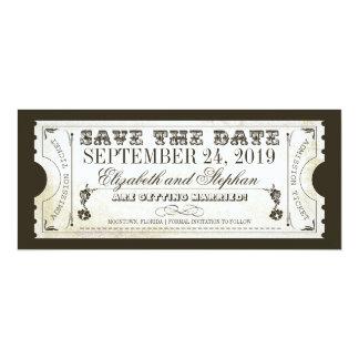 日付の入場のチケットを救って下さい 10.2 X 23.5 インビテーションカード