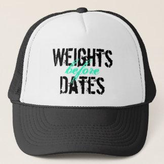 日付の前の重量! キャップ