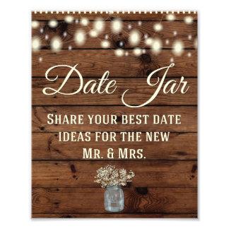 日付の瓶、素朴な装飾を結婚する印を結婚します フォト