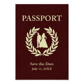 日付の結婚式のパスポートを救って下さい カード