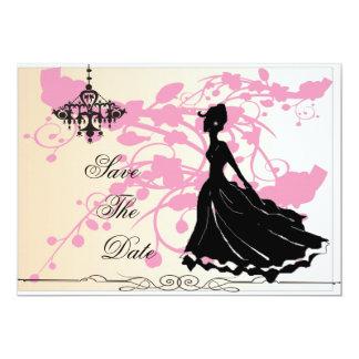 日付の結婚式招待状を救って下さい カード