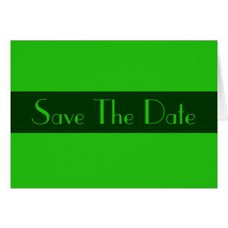日付の緑色を救って下さい カード