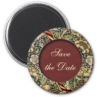 日付の花のビクトリアンな磁石を救って下さい マグネット