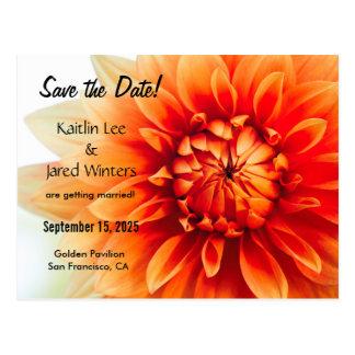 日付の花の郵便はがき-新版--を救って下さい ポストカード