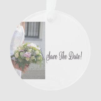 日付の花嫁及び花束を救って下さい オーナメント