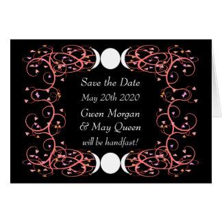 日付のNotecardのレズビアンのウィッカ信者の結婚式を救って下さい カード