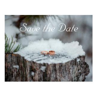 日付を救って下さい--冬の結婚式 ポストカード