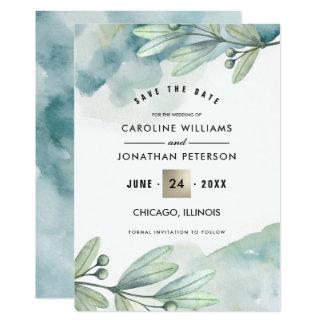日付を救って下さい。 植物の結婚式の発表 カード