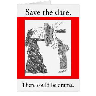 日付を。救って下さい、そこに戯曲があることができます グリーティングカード
