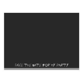 日付-黒板--を救って下さい ポストカード