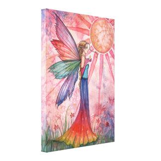日光および虹の包まれたなキャンバスのプリント キャンバスプリント