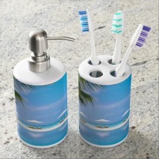 日光が付いている傘が付いているビーチチェア バスセット