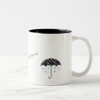 """""""日光が引用文のマグあなたの雨""""だめにしないために注意しないで下さい ツートーンマグカップ"""