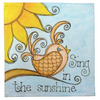 日光で歌って下さい ナプキンクロス