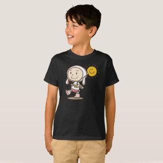 日光のウサギのジャケットの歩くのスマイルはTシャツをからかいます Tシャツ