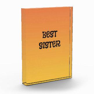 日光のオレンジ最も最高のな姉妹 表彰盾