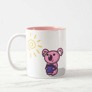 日光のコアラ-ピンク ツートーンマグカップ