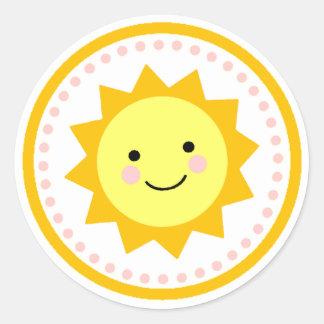 日光のステッカー-点 ラウンドシール