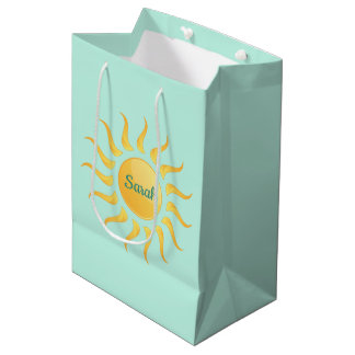 日光のデザインのギフトバッグ ミディアムペーパーバッグ