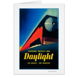 日光の列車昇進ポスター カード