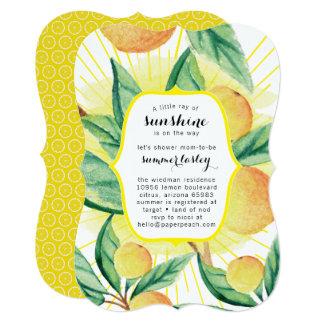 日光の夏のベビーシャワー招待状 カード