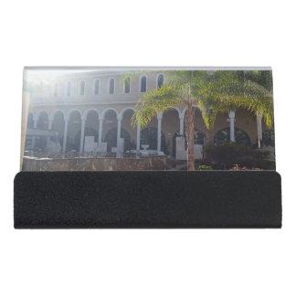 日光の小さい帯出登録者のテネリフェ島のホテル デスク名刺ホルダー