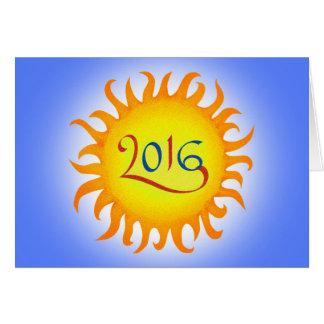 日光の幸せな年賀状 カード