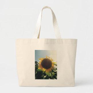 日光の戦闘状況表示板/図書館のバッグのヒマワリ ラージトートバッグ
