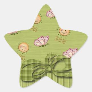 日光の蝶星の形のスクラップブックのステッカー 星シール
