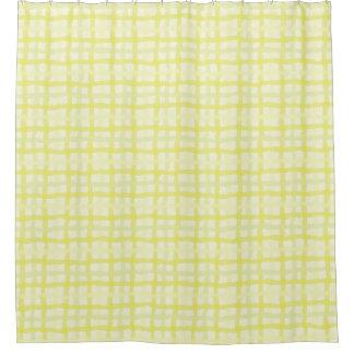 日光の黄色いシャワー・カーテン-ギンガム シャワーカーテン