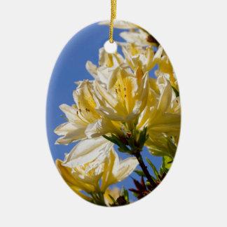 日光の黄色い花 セラミックオーナメント