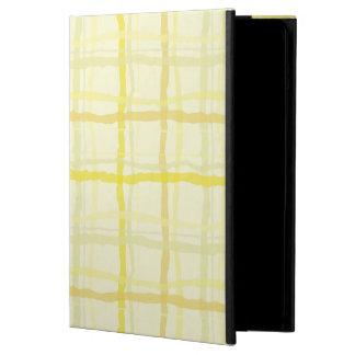 日光の黄色いiPadの箱-格子縞 iPad Airケース