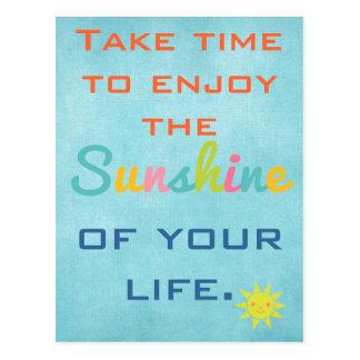 日光を楽しんで下さい ポストカード