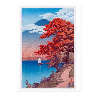 日光中禅寺湖、Nikkôの湖Chûzenji、Hasui Kawase ポストカード