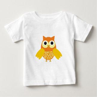 日光愛らしいフクロウ ベビーTシャツ