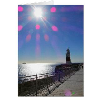 日光、ジブラルタルの灯台 カード