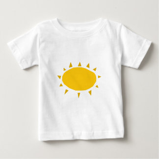 日光、照る日曜日漫画 ベビーTシャツ