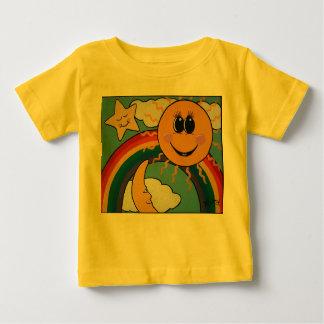日光、虹の子供のTシャツ ベビーTシャツ