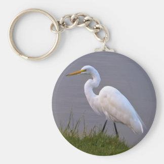 日光Keychainで散歩している白鷺 キーホルダー
